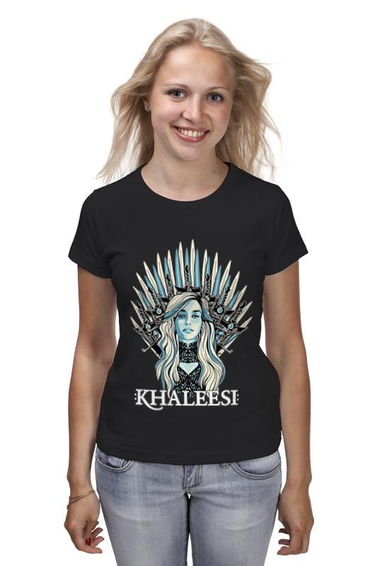 Футболка классическая Printio Кхалиси-дайнерис (игра престолов) майка классическая printio кхалиси дайнерис игра престолов