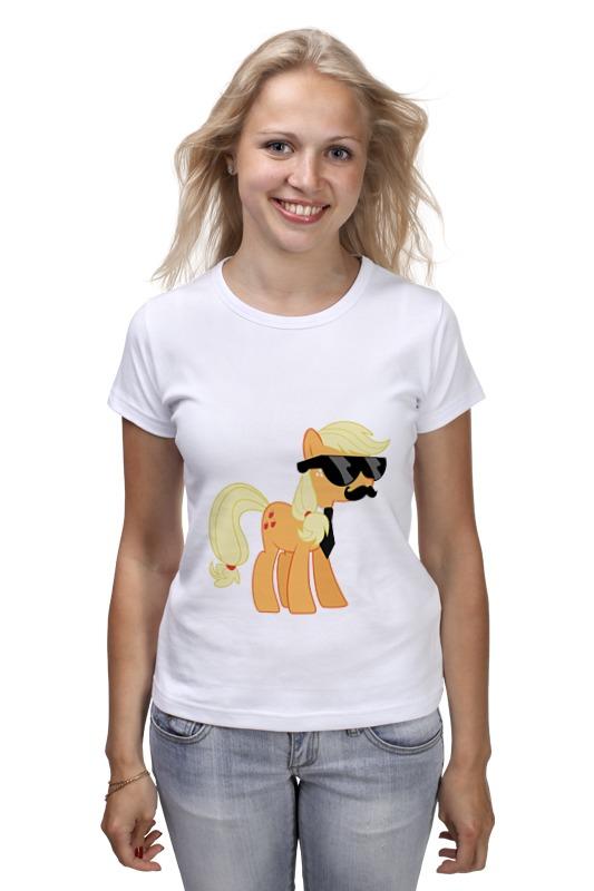 Футболка классическая Printio My little pony - applejack (эпплджек) футболка рингер printio my little pony applejack эпплджек