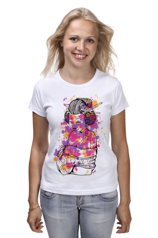 Футболка классическая Printio Гейша футболка с полной запечаткой printio гейша