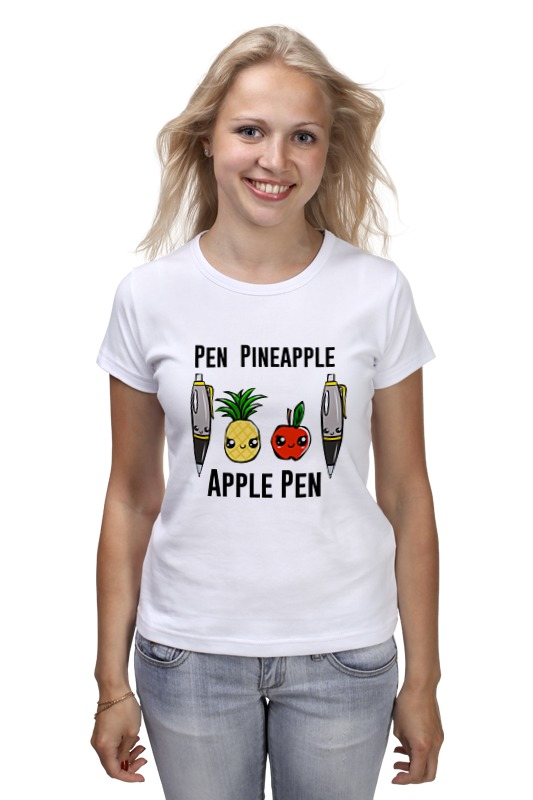 Футболка классическая Printio Pen pineapple apple pen pineapple shape cut out crossbody bag