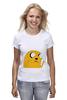 "Футболка (Женская) ""Adventure Time: Jake Dog"" - adventure time, время приключений, jake"