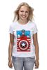 "Футболка (Женская) ""Капитан Америка. Винтаж"" - comics, marvel, poster, марвел, vintage, капитан америка, captain america"