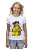 """Футболка (Женская) """"Breaking Bad x Lego"""" - white, во все тяжкие, meth, гайзенберг, лего"""