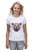 """Футболка (Женская) """"Медведь"""" - bear, медведь, россия"""
