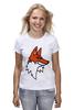 """Футболка (Женская) """"Лис"""" - авторские майки, fox"""