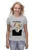 "Футболка (Женская) ""Chanel"" - прикол, юмор, духи, бренд, fashion, brand, brad pitt, шанель, perfume, karl lagerfeld"