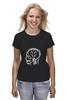 "Футболка (Женская) ""Skull WOT"" - прикол, games, игры, игра, game, brain, логотип, world of tanks, танки, wot"