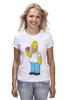 """Футболка (Женская) """"Homer Simpsons"""" - прикольные"""