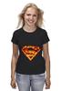 """Футболка (Женская) """"Супермен"""" - comics, комикс, superman, супергерой, dc, superhero"""