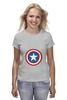 "Футболка (Женская) ""Marvel"" - комиксы, супергерой, marvel, марвел, капитан америка, captain america"
