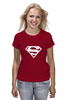 "Футболка (Женская) ""Супермен"" - супер, supermen, s"