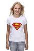 "Футболка классическая ""Супермен"" - супермен, superman, логотип"