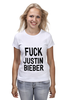 "Футболка (Женская) ""Fuck Justin Bieber"" - секс, звезды"