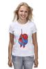"Футболка (Женская) ""Fat Spiderman"" - spider-man, человек-паук, обжорство, спайдермен"