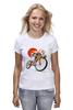 """Футболка (Женская) """"Star Wars"""" - star wars, bicycle, велосипед, bike, stormtrooper, звёздные войны, штурмовик"""