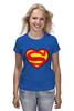 "Футболка (Женская) ""Я люблю Супермена"" - супермен, комиксы, superman, супергерои"