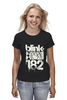 "Футболка классическая ""blink-182 smile shirt"" - blink-182, ava, blink182, angels and airwaves"