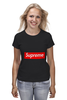 "Футболка (Женская) ""Supreme "" - арт, supreme, nyc, clothing"