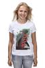"Футболка (Женская) ""Godzilla "" - кино, иероглифы, годзилла, godzilla, kinoart"