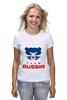 "Футболка (Женская) ""Russia team"" - русский, россия, russia, путин"