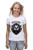 """Футболка (Женская) """"WILD & FREE"""" - кредо, wild, лев, lion, девиз"""