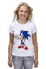 """Футболка (Женская) """"Sonic the Hedgehog"""" - games, игры, ёжик, компьютерные игры, pc, соник, sonic, 80's, video games"""