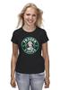 """Футболка (Женская) """"Frozen coffee"""" - кофе, coffee, starbucks, frozen, холодное сердце"""