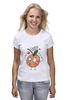 """Футболка (Женская) """"Клубничка и персик. Парные футболки"""" - клубничка, парные, ко дню влюбленных, надписи для двоих, персик"""