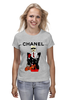 "Футболка (Женская) ""Chanel"" - прикол, юмор, духи, бренд, fashion, коко шанель, brand, coco chanel, шанель, perfume"