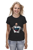 "Футболка (Женская) ""Путин - Супермен"" - супермен, superman, россия, политика, путин, президент, putin, путин арт, патриотические футболки, футболки с путиным"