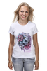 """Футболка (Женская) """"Череп"""" - skull, череп, цветы, roses"""