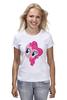 """Футболка (Женская) """"My Little Pony - Пинки Пай (Pinkie Pie)"""" - pony, mlp, my little pony, пони, pinkie pie, пинки пай"""