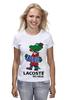 """Футболка (Женская) """"гена лакост"""" - lacoste, крокодил гена, лакост"""
