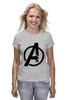 "Футболка (Женская) ""Avengers"" - marvel, мстители, avengers"