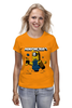 "Футболка (Женская) ""MINIONCRAFT"" - minecraft, майнкрафт, banana, банан, миньон, minion, гадкия я"