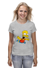 "Футболка (Женская) ""The Simpsons"" - симпсоны, the simpsons, барт, барт симпсон"