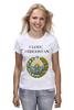 """Футболка (Женская) """"Uzbekistan"""" - любовь, i love, uzbekistan, герб, я люблю, узбекистан"""