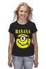 "Футболка (Женская) ""Миньон (Banana)"" - nirvana, пародия, нирвана, миньон, банана"