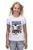"Футболка (Женская) ""Rocky / Рокки"" - иероглифы, сталлоне, рокки, rocky, kinoart"