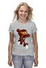 "Футболка (Женская) ""Бомбермэн (Bomberman)"" - железный человек, iron man"
