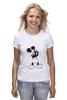 """Футболка классическая """"Mickey Mouse Bloody Eyes On White"""" - боль, смех, юмор, приколы, глаз, мультики, глаза, mouse, микки, анимация"""
