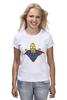 "Футболка (Женская) ""Гомер Супермен"" - superman, симпсоны, the simpsons, gomer simpson, гомер супермен"