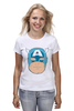 "Футболка (Женская) ""Капитан Америка. Винтаж"" - comics, комиксы, винтаж, marvel, капитан америка, captain america, vintage look"