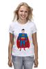 """Футболка (Женская) """"Супермен (Superman)"""" - супермен, superman, супергерой, dc"""