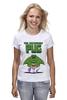 """Футболка (Женская) """"Невероятный Мопс"""" - pug, hulk, мопс, халк, невероятный мопс"""