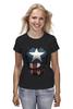 "Футболка (Женская) ""Капитан Америка"" - супергерои, marvel, капитан америка, captain america"