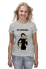 "Футболка (Женская) ""Chanel"" - юмор, духи, бренд, fashion, коко шанель, brand, coco chanel, шанель, perfume, karl lagerfeld"