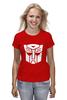 """Футболка (Женская) """"Transformers Autoboats team"""" - роботы, transformers, трансформеры, автоботы, мульфильм"""