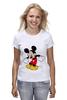 """Футболка (Женская) """"Микки Маус"""" - арт, mickey mouse"""