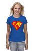 """Футболка классическая """"Суперженщина"""" - супермен, супервумен, русская женщина"""